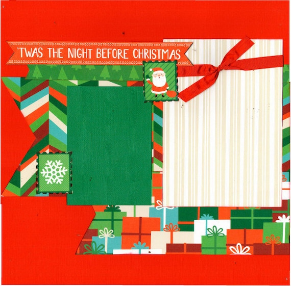 Twas the Night Before Christmas 2 Page Scrapbooking layout Kit