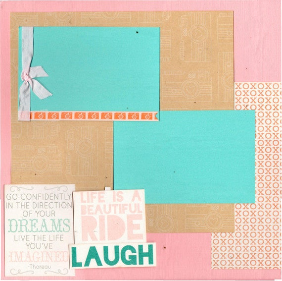 Life is a Beautiful Ride - Go Confidently in the Direction of your Dreams... 2 Page Scrapbooking Layout Kit