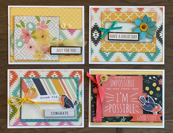 General Greeting Themed Card Kit- 4 pack