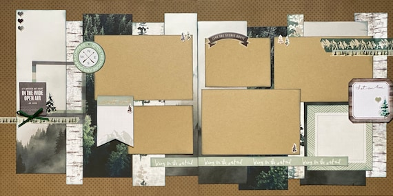 Ditch the Phone and Grab a Compass 2 page Scrapbooking Layout Kit or Premade Scrapbooking Pages