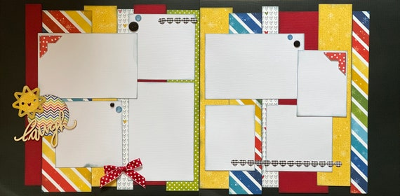 Laugh - Winter Snowflake 2 Page Scrapbooking layout Kit or Premade Scrapbooking Pages