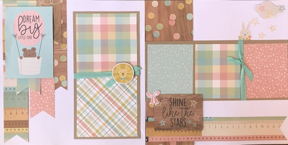 Dream Big Little One - Shine Like the Stars 2 page Scrapbooking Layout Kit or Pre Made Pages