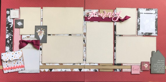 Journey - The Most Important Work You will Ever Do will Be Within The Walls... 2 Page Scrapbooking Layout Kit or Premade Scrapbooking Pages
