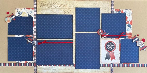 We The People...  Washington DC  2 Page Scrapbooking Layout Kit or Pre Made Pages