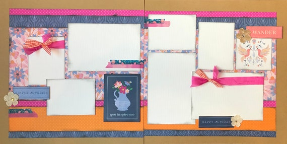 You Inspire Me 2 Page Scrapbooking layout Kit or Premade Scrapbooking Pages