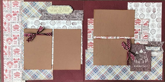 In Every Walk with Nature One Receives Far More Than He Seeks  2 page Scrapbooking Layout Kit or Premade Scrapbooking Pages