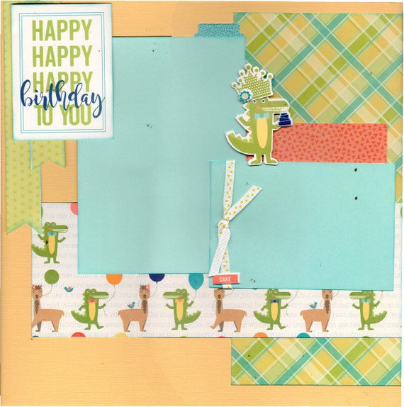 Happy Happy Birthday! 2 Page Scrapbooking layout KIt