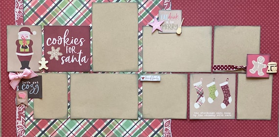 Cookies for Santa 2 Page Scrapbooking Layout Kit or Premade Scrapbooking Pages