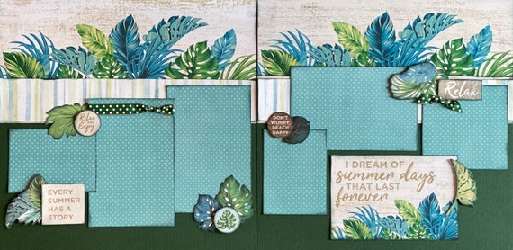 I Dream of Summer Days that Last Forever 2 Page Scrapbooking Layout Kit or Premade Scrapbooking Pages