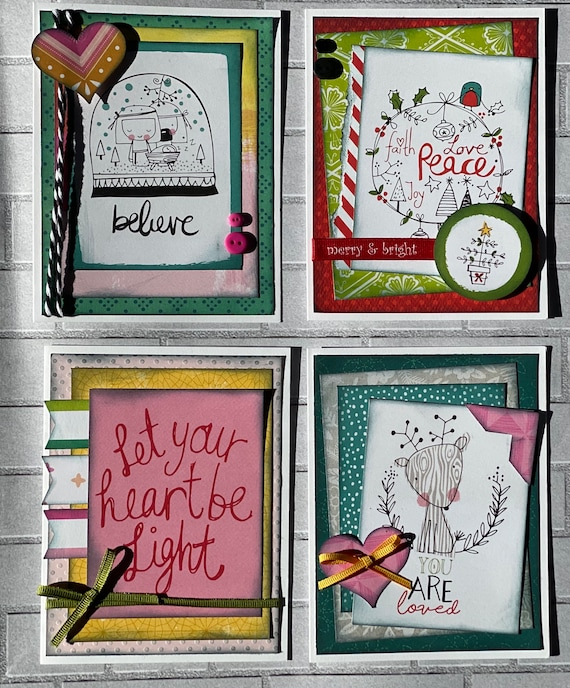 Faith Based Christmas Themed Card Kit- 4 pack