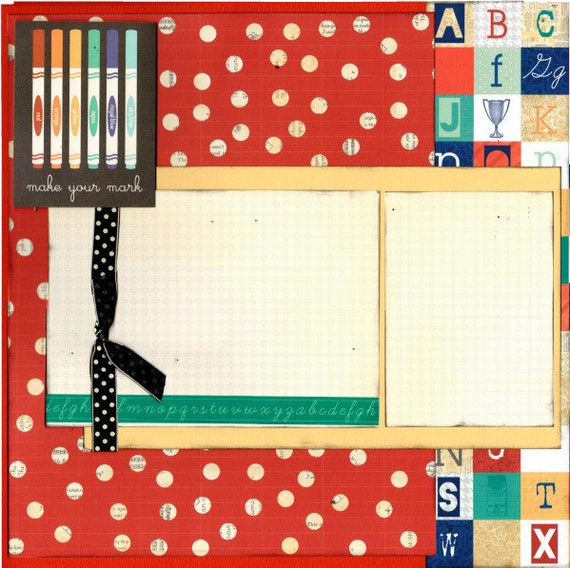 Make your Mark - School Themed, 2 page scrapbooking kit