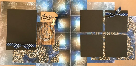 Cheers - Joy to the World 2 page Scrapbooking layout kit or Scrapbooking Premade Pages