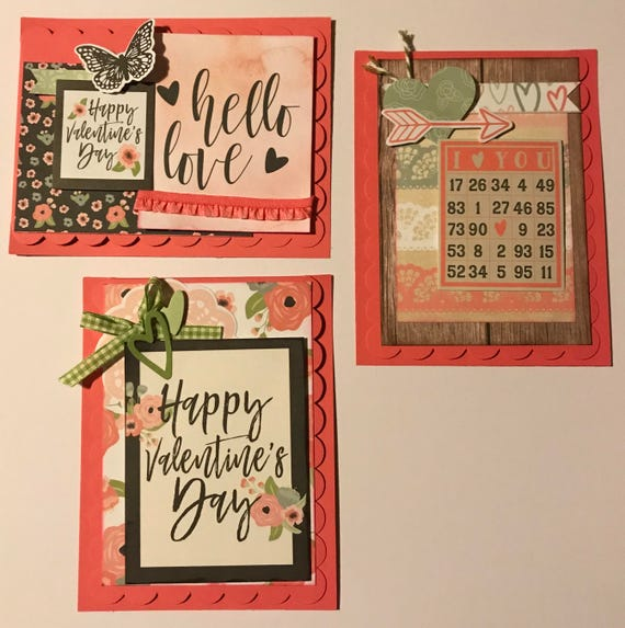 Valentine Themed Card Kit- 3 pack