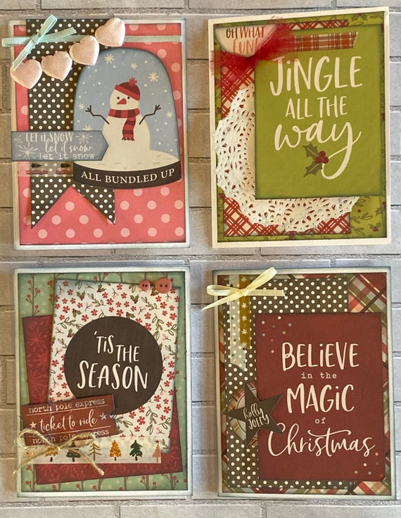 Christmas Themed Card Kit- 4 pack