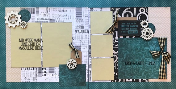 Don't Wait for the Perfect Moment, Take the Moment and Make it Perfect 2 Page Scrapbooking Layout Kit