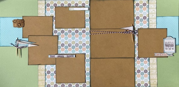 Best of Friends - We Have So Much Fun Together 2 page Scrapbooking layout kit or Premade Scrapbooking Pages