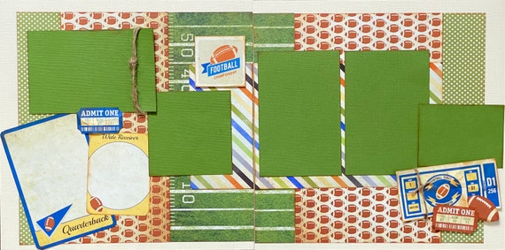 Football Championship - 2 page Scrapbooking Layout Kit or Premade Scrapbooking Pages