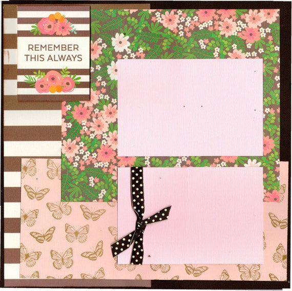 Remember this Always, Enjoy the Little Things 2 Page Scrapbooking Layout Kit