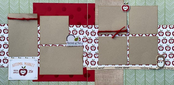 Autumn Market - Barrels of Fun 2 Page Scrapbooking Layout Kit or Pre-Made Scrapbooking Pages