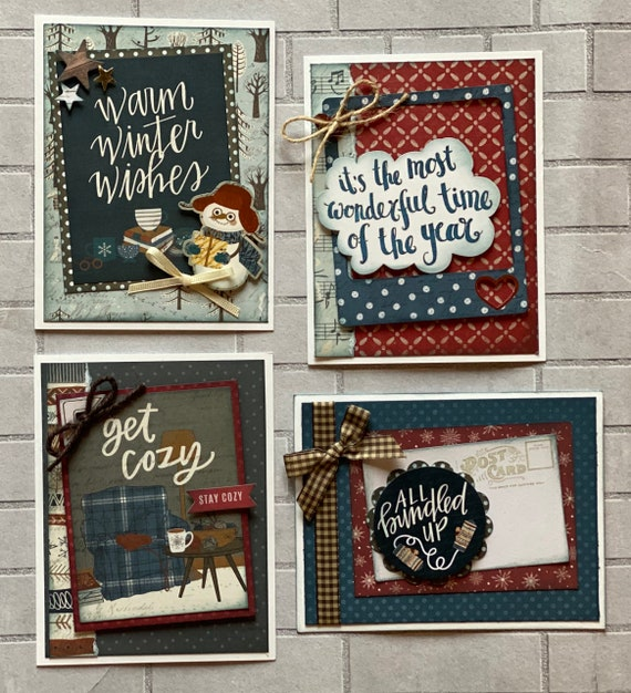 Winter Themed Card Kit- 4 pack