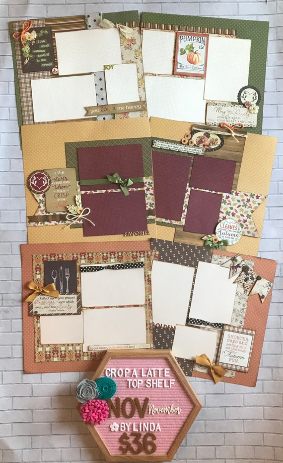 Top Shelf Kit Club November - 3 - 2 Page Scrapbooking Layout Kits - Authentique