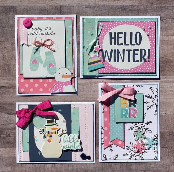 Winter General Themed Card Kit- 4 pack