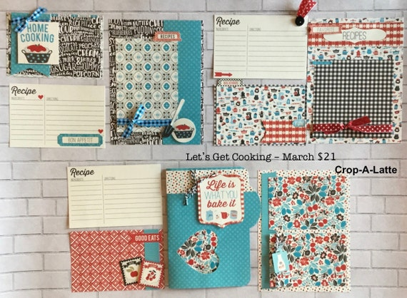 Lets Get Cooking  MARCH - 3 - 2 Page Scrapbooking Layout Kits