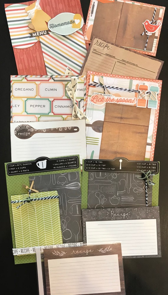 Let's Get Cooking September - 3 - 2 Page 6x8 Scrapbooking Layout Kits