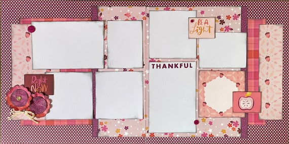 Right Now - Be a Light - Thankful 2 Page Scrapbooking Layout Kit or Premade Scrapbooking Pages