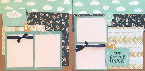 Let's Start by Taking a Smallish Nap, or Two...  2 page Scrapbooking Layout Kit or Pre Made Pages