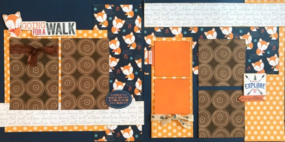 Going for a Walk - Sometimes you have to get away... 2 page Scrapbooking Layout Kit or Premade Scrapbooking Pages