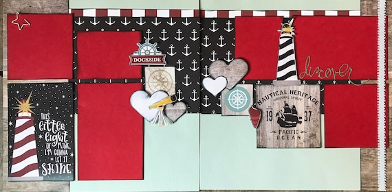 This Little Light of Mine - Discover 2 page scrapbooking layout Kit or Premade Scrapbooking Pages