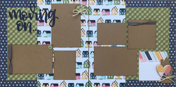Moving On... Dream Big!  2 page Scrapbooking Layout Kit or Preassembled Scrapbooking Pages