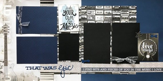 Make Your Own Music - That was Epic!  2 Page Scrapbooking Layout Kit or Premade Scrapbooking Pages
