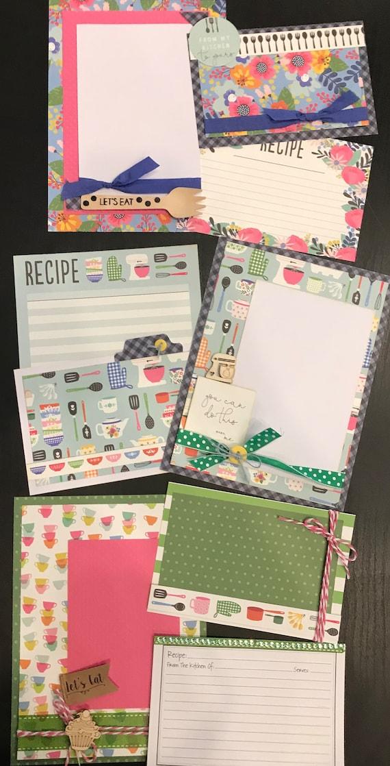 Lets Get Cooking  November  - 3 - 2 Page Scrapbooking Layout Kits