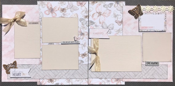 Follow Your Heart  - Keep Dreaming 2 Page Scrapbooking Layout Kit