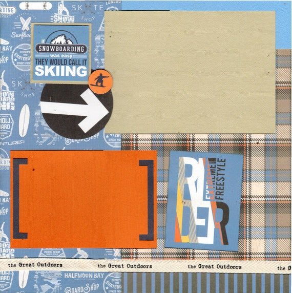 If Snowboarding was easy they'd call it Skiing - 2 Page Scrapbooking Layout Kit