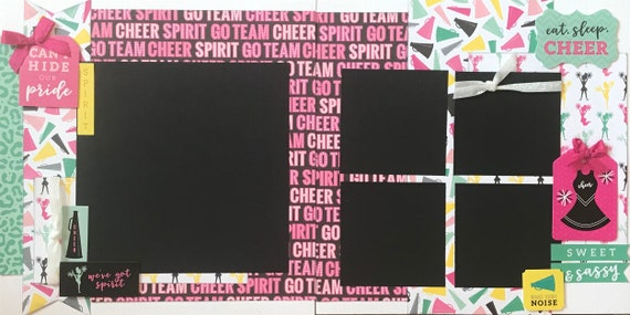 Can't Hide Our Pride - Cheer 2 Page Scrapbooking Layout Kit or Premade Scrapbooking Pages