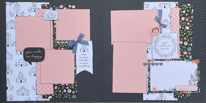 The Love in Our Family Assembled Scrapbook Page Kit