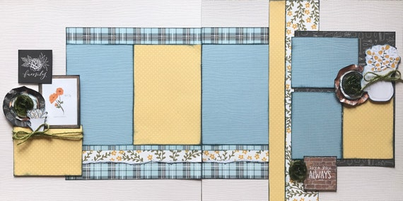 Family - Love you Always 2 page scrapbooking layout kit or Premade Scrapbooking Pages