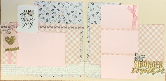 Choose Joy - Stronger Together 2 Page Scrapbooking Layout Kit or Premade Scrapbooking Pages