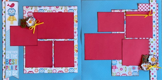 Together is the Best Place To Be 2 Page Scrapbooking Layout Kit or Premade Scrapbooking Pages