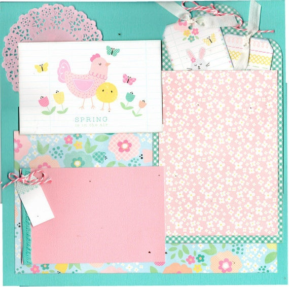 Spring is in the Air 2 Page Scrapbooking Layout Kit