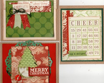 Christmas Themed Card Kit- 3 pack