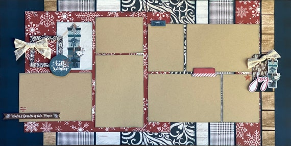 Winter's Sparkle is Like Magic 2 page Scrapbooking Layout Kit or Premade Scrapbooking Pages