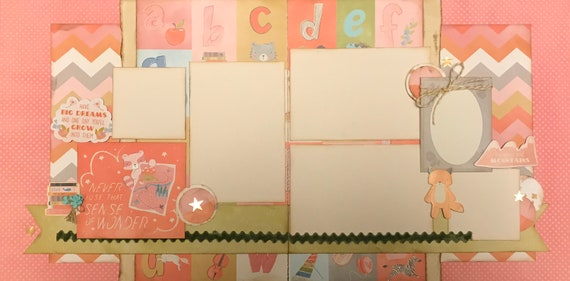 Never Lose Your Sense of Wonder - Girl 2 page Scrapbooking Layout Kit or Pre Made Pages