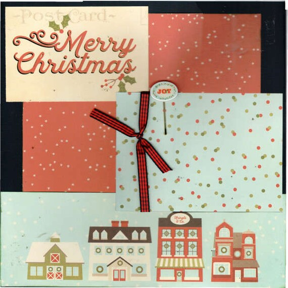 Merry Christmas, Kringle and Co 2 Page Scrapbooking Layout Kit