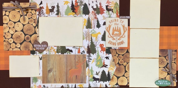 Going to the Woods is Going Home - Nothing Beats this View 2 page Scrapbooking Layout Kit or Premade Scrapbooking Pages