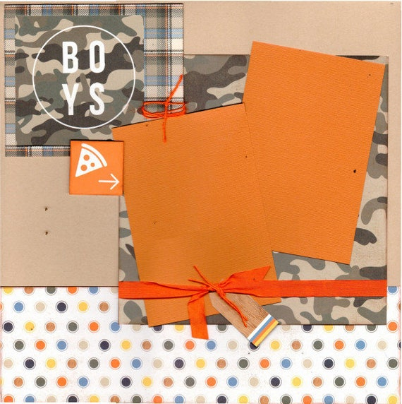 Stay Rad - Boys 2 page Boy Scrapbooking Kit