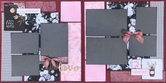 Let's Love More - Let Grace Be Your Inspiration  2 Page Scrapbooking Layout Kit or Premade Scrapbooking Pages